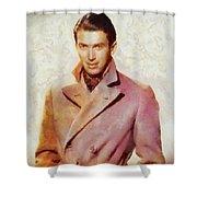 James Stewart, Vintage Hollywood Legend Shower Curtain