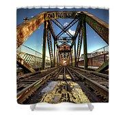 James Street Swing Bridge Shower Curtain