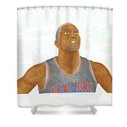 James White Shower Curtain