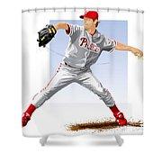 Jamie Moyer Shower Curtain