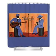 Jammin At The Crossroads Shower Curtain