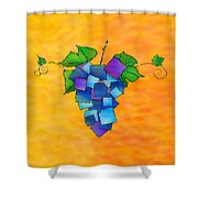 Jamurissa - Square Grapes Shower Curtain