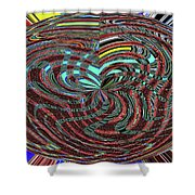 Janca Abstract Ovoid Panel 9646w9a Shower Curtain