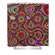 Janca Abstract Panel #097e10 Shower Curtain