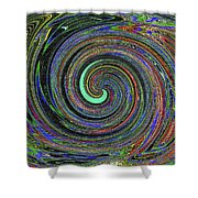 Janca Abstract Panel #5473w4 Shower Curtain