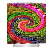 Janca Colors Panel Abstract # 5212 Wtw7abc Shower Curtain