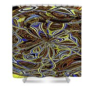 Janca Oval Abstract 4917 W3a Shower Curtain