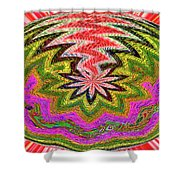 Janca Pink Color Panel Abstract #5212 Wtw6 Shower Curtain