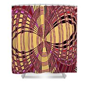 Janca Red And Yellow Abstract  Shower Curtain