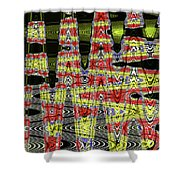 Jancart #0010-8 Abstract Shower Curtain