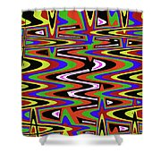 Jancart Drawing Abstract #8455ws Shower Curtain