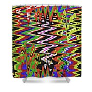 Jancart Drawing Abstract #8455wt Shower Curtain