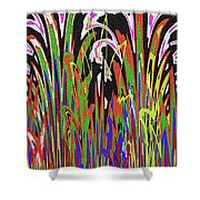 Jancart Drawing Abstract #8455wtpc Shower Curtain