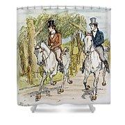 Jane Austen: Illustration Shower Curtain