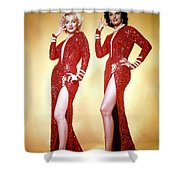 Jane Russel And Marilyn Monroe Shower Curtain
