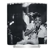Janelle Monae Playing Live Shower Curtain