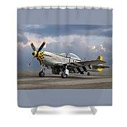 Janie P-51 Shower Curtain