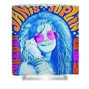 Janis Stamp Painting Shower Curtain