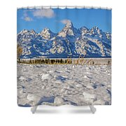 January At The Tetons Shower Curtain