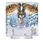 January Gryphon Shower Curtain