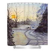January Morning Shower Curtain
