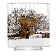 January Snow In England  Shower Curtain