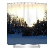 January Winter Morninng Shower Curtain