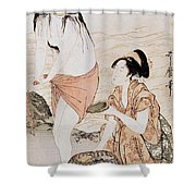 Japan: Abalone Divers Shower Curtain