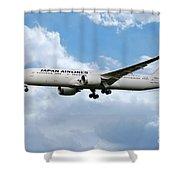 Japan Airlines Boeing 787 Dreamliner Shower Curtain