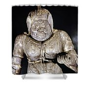 Japan: Buddhist Statue Shower Curtain