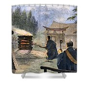 Japan: Cremation, 1890 Shower Curtain