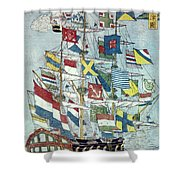 Japan: Dutch Ship Shower Curtain