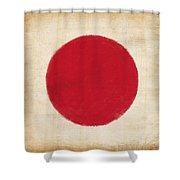 Japan Flag Shower Curtain by Setsiri Silapasuwanchai