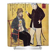 Japan: French Trade, 1861 Shower Curtain