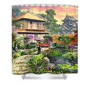 Japan Garden Variant 2 Shower Curtain