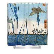 Japan: Iris Garden, 1857 Shower Curtain