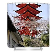 Japan Itsukushima Temple Shower Curtain
