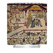 Japan: Kabuki Theater Shower Curtain