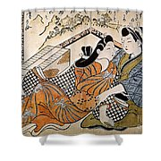 Japan: Lovers Shower Curtain