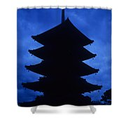 Japan Pagota Shower Curtain