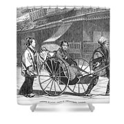 Japan: Rickshaw, 1874 Shower Curtain by Granger