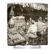 Japan: Shoe Store, C1910 Shower Curtain