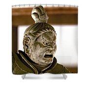 Japan: Warrior Statue Shower Curtain