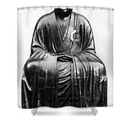 Japan: Zen Priest Shower Curtain