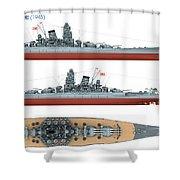 Japanese Battleship Yamato Shower Curtain