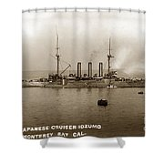 Japanese Cruiser Izumo In Monterey Bay December 1913 Shower Curtain