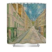 Japanese Eyes And Utrillo Shower Curtain