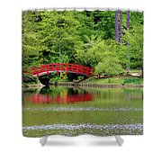 Japanese Garden Bridge  Shower Curtain