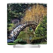 Japanese Garden Bridge Shower Curtain