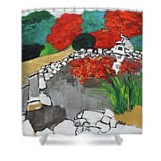 Japanese Garden Norfolk Botanical Garden 201820 Shower Curtain